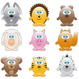 Cartoon animals Stock Photo