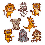 Cartoon Animals Set Royalty Free Stock Photo