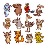 Cartoon Animals Set Royalty Free Stock Photography