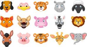 Cartoon animals smiling Stock Photos