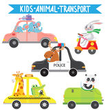 Cartoon animals traveling Stock Photo