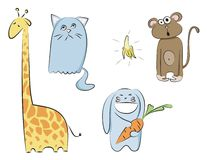 Cartoon animals vector Royalty Free Stock Photo