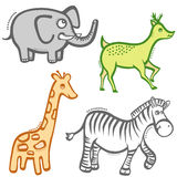 Cartoon animals vector Royalty Free Stock Photography