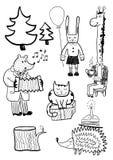 Cartoon Animals. Vector hand drawn cartoon animals Royalty Free Stock Image