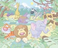 Cartoon Animals Royalty Free Stock Photo