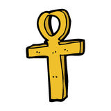 cartoon ankh symbol Royalty Free Stock Images