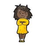Cartoon annoyed girl Royalty Free Stock Photography