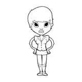 Cartoon annoyed girl Royalty Free Stock Photo
