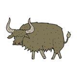 Cartoon annoyed hairy cow Royalty Free Stock Photos