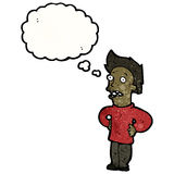 Cartoon annoyed man Stock Photos