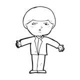 Cartoon annoyed man Royalty Free Stock Images