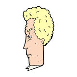 Cartoon annoyed man Stock Photo