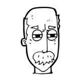 Cartoon annoyed old man Stock Photo