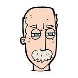 Cartoon annoyed old man Royalty Free Stock Images