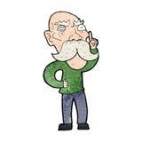 Cartoon annoyed old man Royalty Free Stock Photos