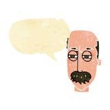 Cartoon annoyed old man with speech bubble Stock Photos
