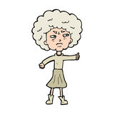 Cartoon annoyed old woman Royalty Free Stock Photo