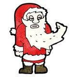 Cartoon annoyed santa Stock Photos