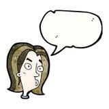 Cartoon annoyed woman. Retro cartoon with texture. Isolated on White Royalty Free Stock Photos