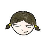 Cartoon annoyed woman Royalty Free Stock Photo