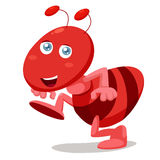 Cartoon ant Stock Photography