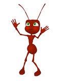 Cartoon ant 3d Stock Photography