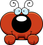 Cartoon Ant Peeking. A cartoon illustration of a little ant peeking over an object Stock Photography
