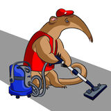 Anteater and vacuum cleaner Stock Photo