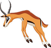Cartoon antelope jumping. Illustration of Cartoon antelope jumping Stock Photos