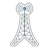 Cartoon antenna tower broadcast connection. Illustration eps 10 Royalty Free Stock Images