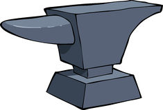 Cartoon anvil. Anvil on a white background vector Stock Images