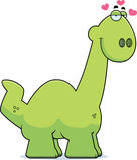 Cartoon Apatosaurus in Love Stock Photography