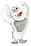 Cartoon ape like yeti Royalty Free Stock Images