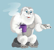 Cartoon ape like yeti. Beautiful and colorful illustration for the children Royalty Free Stock Images