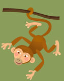 Cartoon ape - monkey - illustration for the children. Beautiful and colorful illustration of a monkey for kids Royalty Free Stock Photos