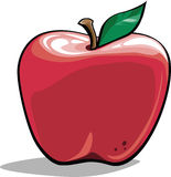 Cartoon apple. Cartoon  illustration of a shiny, red apple Royalty Free Stock Images