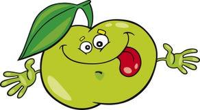 Cartoon apple. Cartoon  illustration of funny apple Royalty Free Stock Photos