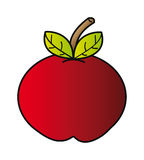 Cartoon apple Royalty Free Stock Photography