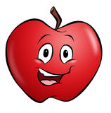 Cartoon Apple Stock Image