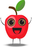 Cartoon apple character Royalty Free Stock Images