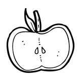 Cartoon apple half Royalty Free Stock Images