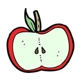 Cartoon apple half Stock Photos