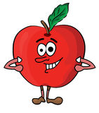Cartoon apple illustration Royalty Free Stock Photo