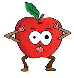 Cartoon apple illustration Stock Photos