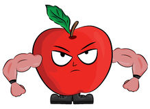 Cartoon apple illustration Royalty Free Stock Photography