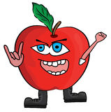 Cartoon apple illustration Royalty Free Stock Images