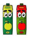 Cartoon apple juice package Royalty Free Stock Images
