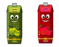 Cartoon apple juice packages Royalty Free Stock Images