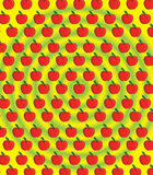 Cartoon apple pattern Stock Photography