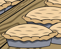 Cartoon apple pie on a shelf Royalty Free Stock Photo
